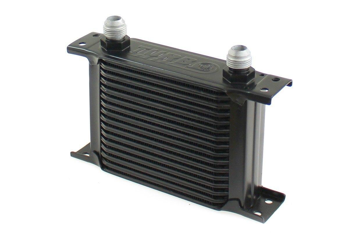Chłodnica Oleju TurboWorks Slim Line 16-rzędowa 140x125x50 AN10 black - GRUBYGARAGE - Sklep Tuningowy